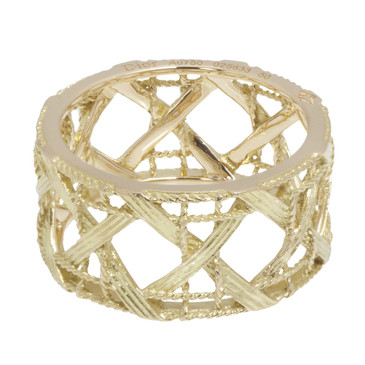 Christian Dior 18K Yellow Gold Large My Dior Ring