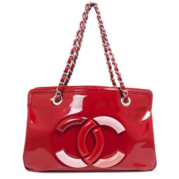 Chanel Red Patent Leather Lipstick Tote