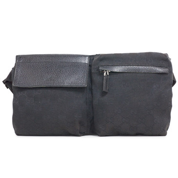 Gucci Black Monogram Belt Bag