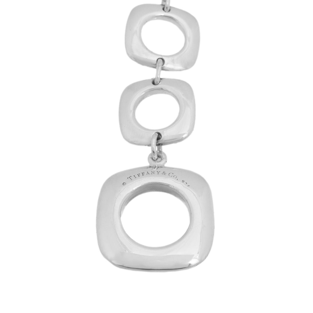 0ff23c871342 Tiffany   Co. Sterling Silver Cushion Toggle Bracelet - modaselle