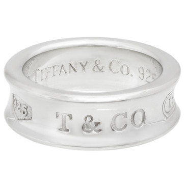 Tiffany & Co. Sterling Silver Vintage 1837 Ring