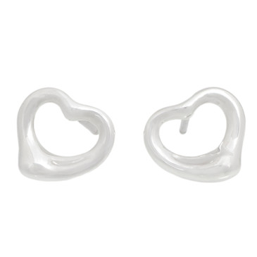 Tiffany & Co. Sterling Silver Open Heart  Earrings