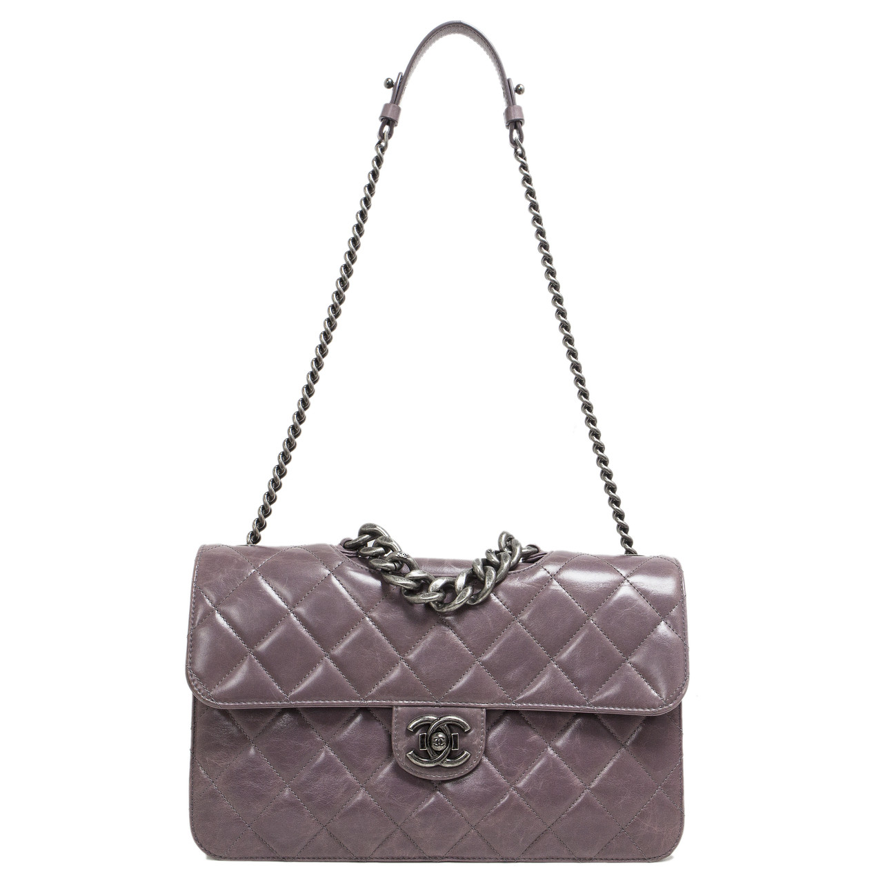 ede87d66eac0 Chanel Purple Quilted Calfskin Medium Perfect Edge Flap - modaselle
