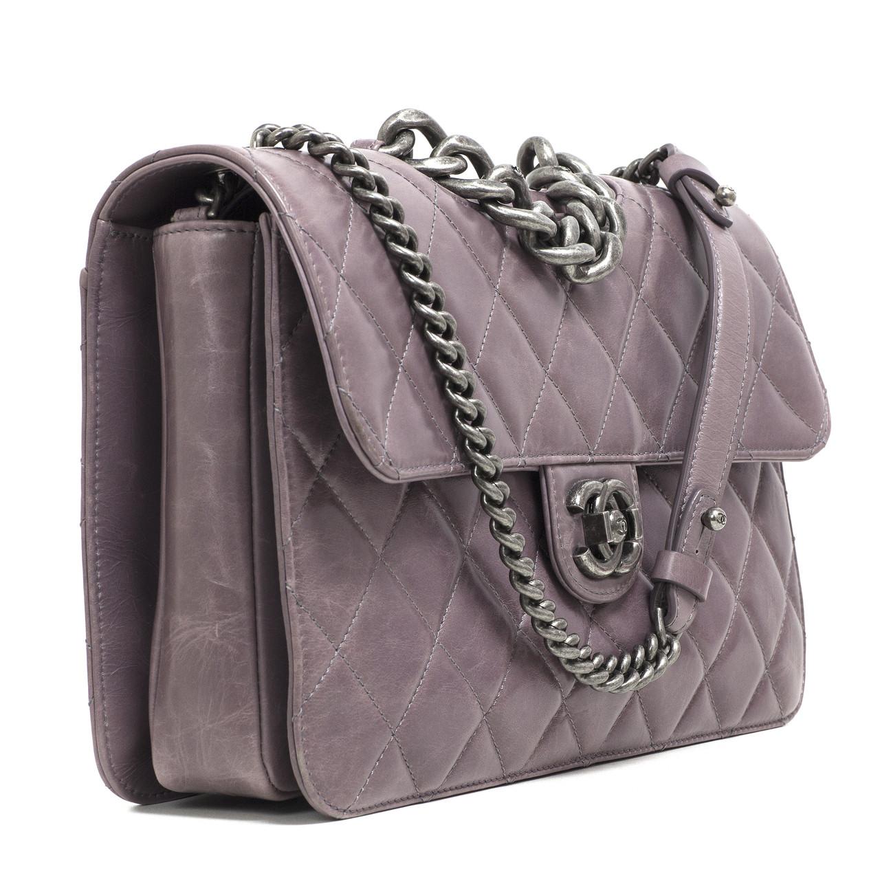 1c599a209e59 Chanel Purple Quilted Calfskin Medium Perfect Edge Flap - modaselle