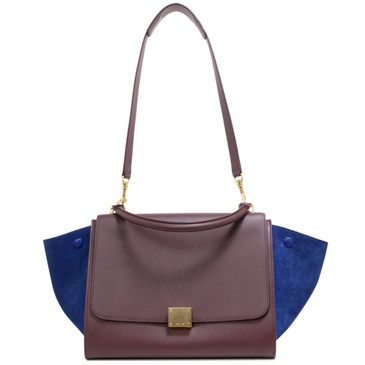 Céline Smooth Leather & Suede Medium Trapeze Bag