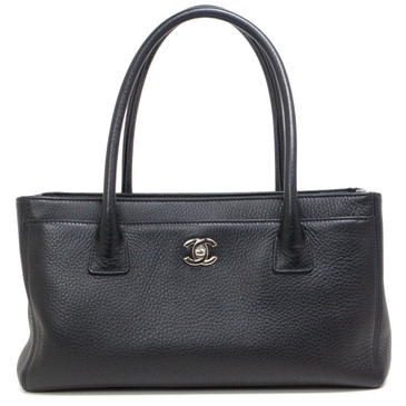 Chanel Black Calfskin Small Cerf Tote