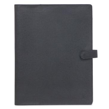 Louis Vuitton Black Taiga Desk Agenda Cover