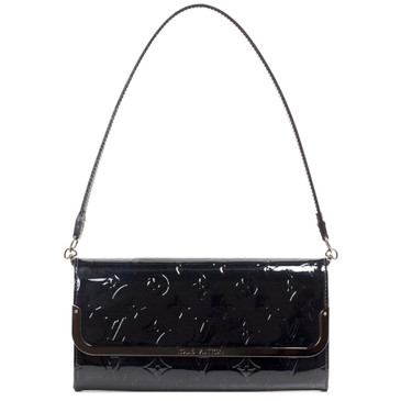 Louis Vuitton Noir Vernis Rossmore Clutch MM