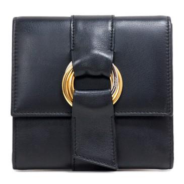 Cartier Black Calfskin Trifold Trinity Wallet