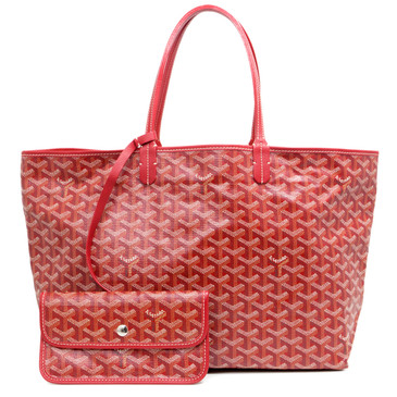 Goyard Red Chevron Canvas St. Louis  PM