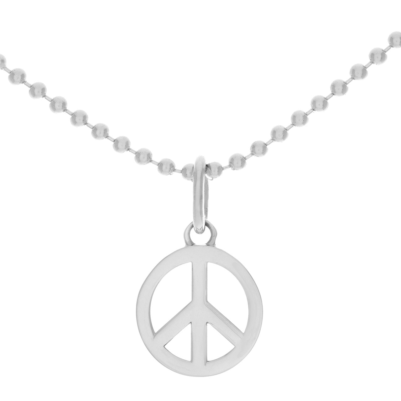 087af76aadcb Tiffany   Co. Sterling Silver Peace Sign Charm on Beaded Chain ...