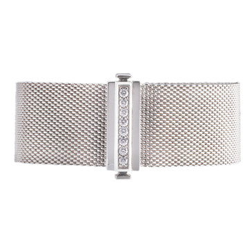 Tiffany & Co. Sterling Silver & Diamond Somerset Bracelet