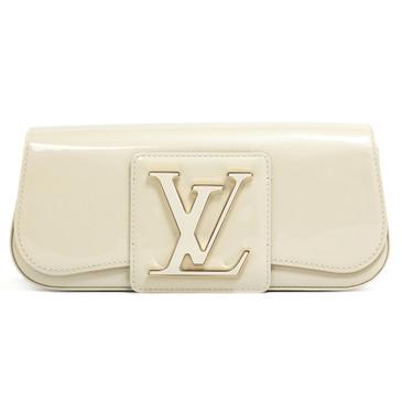Louis Vuitton Blanc Corail Vernis Sobe Clutch
