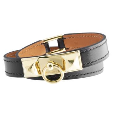 Hermès Black Rivale Double Tour Bracelet