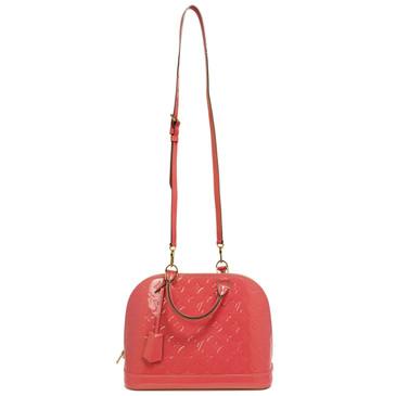 Louis Vuitton Rose Litchi Vernis Alma PM
