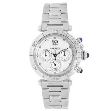 Cartier Pasha Seatimer Stainless Steel Chronograph Watch W31030H3