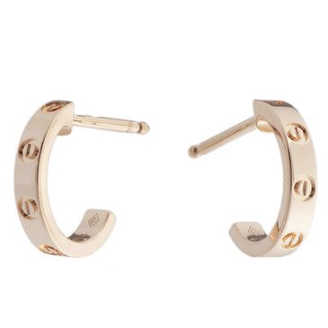 Cartier 18K Pink Gold Love Earrings