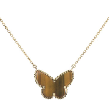 Van Cleef & Arpels 18K Lucky Alhambra Butterfly Pendant