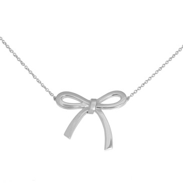 Tiffany & Co. Sterling Silver Medium Bow  Pendant