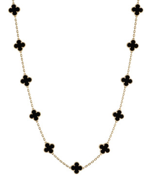 Van Cleef & Arpels 18K Vintage Alhambra 20 Motif Long Necklace