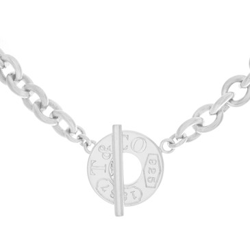 Tiffany and Co. Sterling Silver 1837 Toggle Necklace