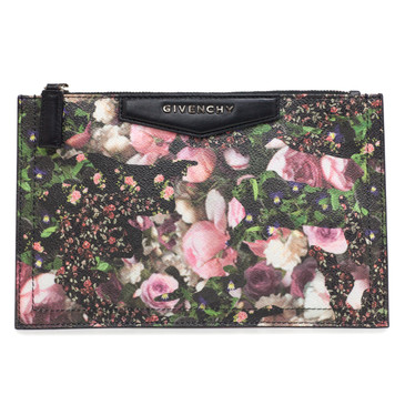 Givenchy Floral Camo Canvas Small Antigona Pouch