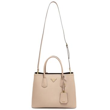 Prada Cameo Saffiano Cuir Small Double Bag