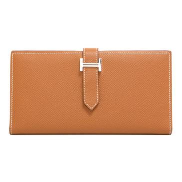 Hermès Gold Epsom Bearn Gusset Wallet