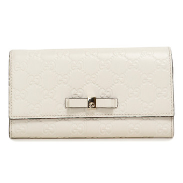 Gucci Ivory Continental Bow Wallet