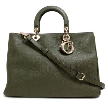 Christian Dior Green Bullcalf Large Diorissimo Bag