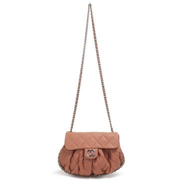Chanel Washed Lambskin Medium Chain Around Messenger Bag