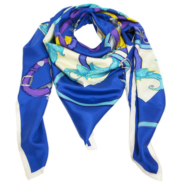 Hermes Silk L'Instruction Du Roy Scarf 140