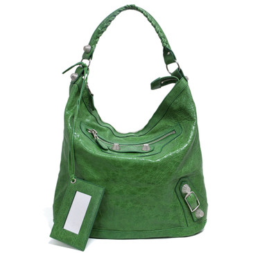 Balenciaga Vert Gazon Lambskin Giant 21 Day Bag