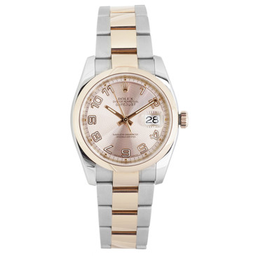 Rolex Everose Gold & Stainless Steel Datejust 36 116201