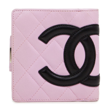 Chanel Pink Calfskin Cambon French Purse