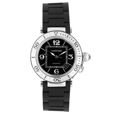 Cartier Pasha Seatimer Stainless Steel & Rubber Watch W31077U2