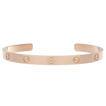Cartier 18K Pink Gold Open Love Bracelet