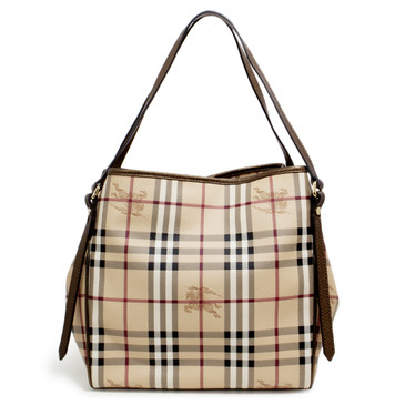 Burberry Bronze Haymarket Check Small Canterbury Tote