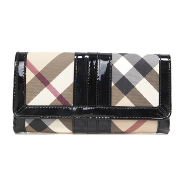 Burberry Supernova Check Penrose Continental Wallet