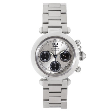 Cartier Stainless Steel Pasha Chronograph Automatic Watch W31048M7