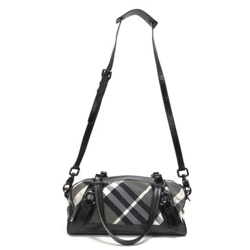 Burberry Beat Check Nylon Satchel