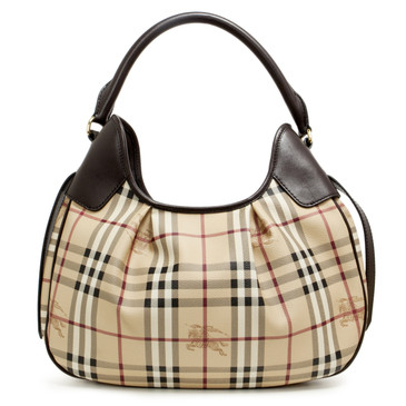 Burberry Haymarket Check Small Brooklyn Hobo