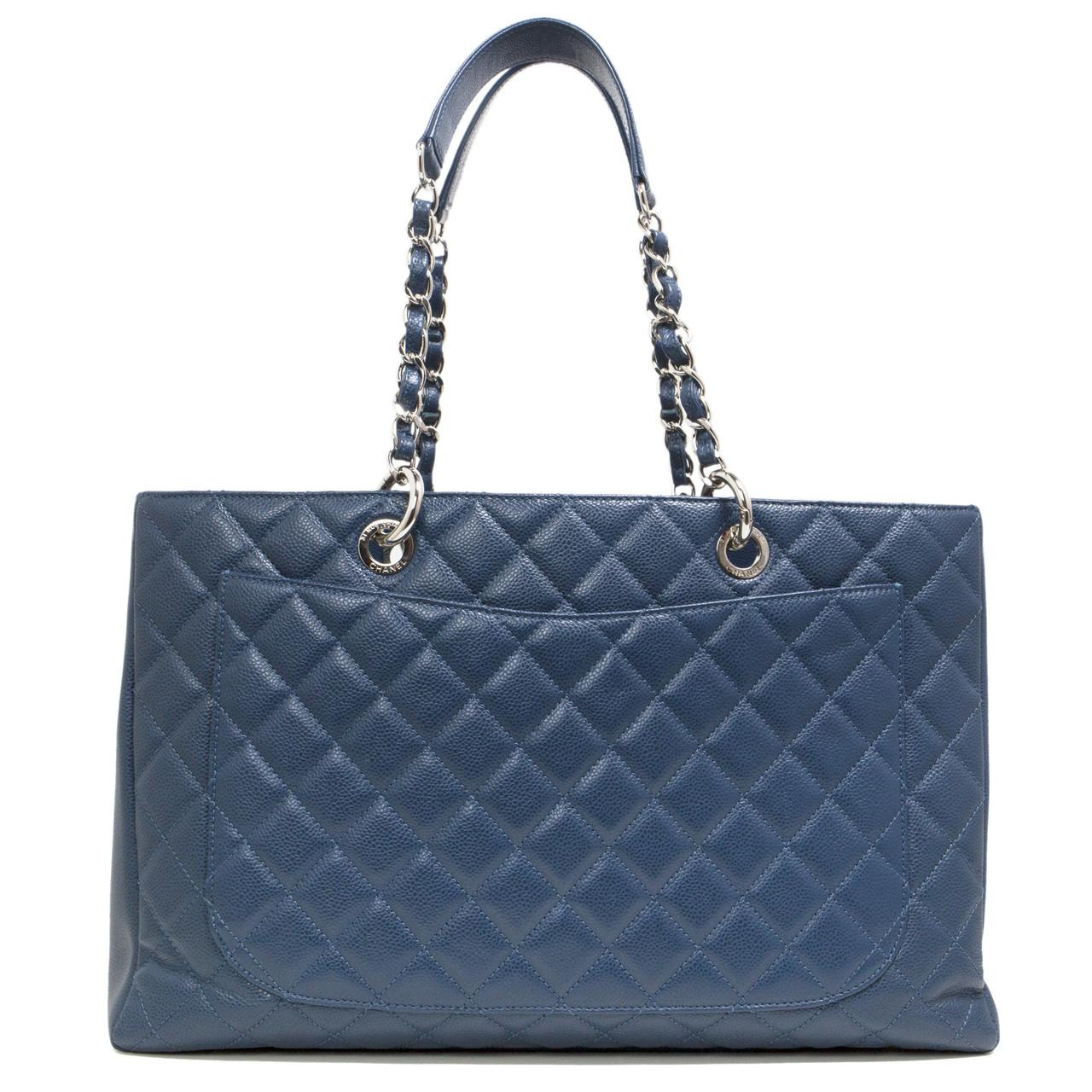 207ef125b7cc93 Chanel Blue Caviar XL Grand Shopping Tote GST - modaselle
