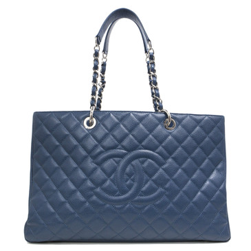 Chanel Blue Caviar XL Grand Shopping Tote GST