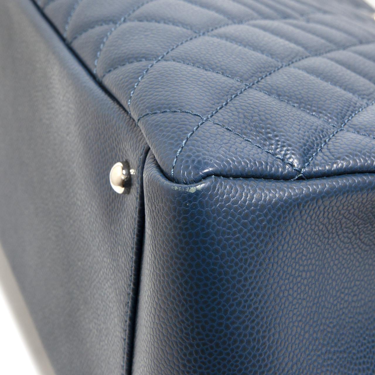 f85b6a8bcba1c2 Chanel Blue Caviar XL Grand Shopping Tote GST - modaselle
