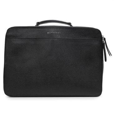 Burberry Black Textured Calfskin Briefcase