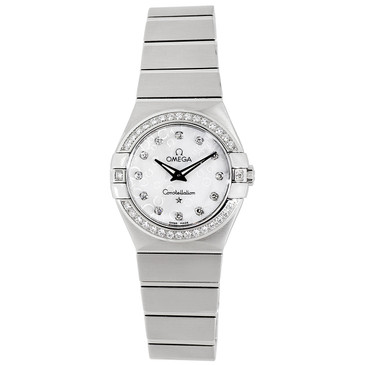 Omega Mother of Pearl & Diamond Constellation Ladies Watch 123.15.27.60.55.005