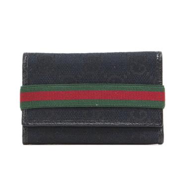 Gucci Black Monogram Canvas Key Case