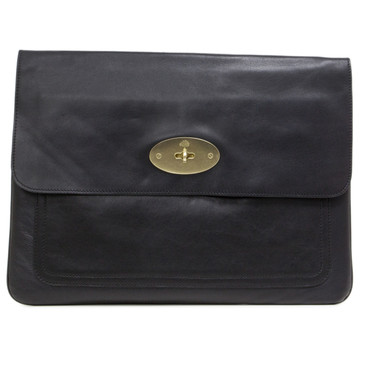 Mulberry Black Nappa Bayswater Laptop Case