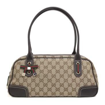 Gucci Monogram Canvas Princy Boston  Bag